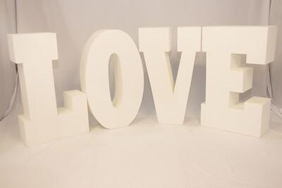 Lettre LOVE Géante Blanche - 30