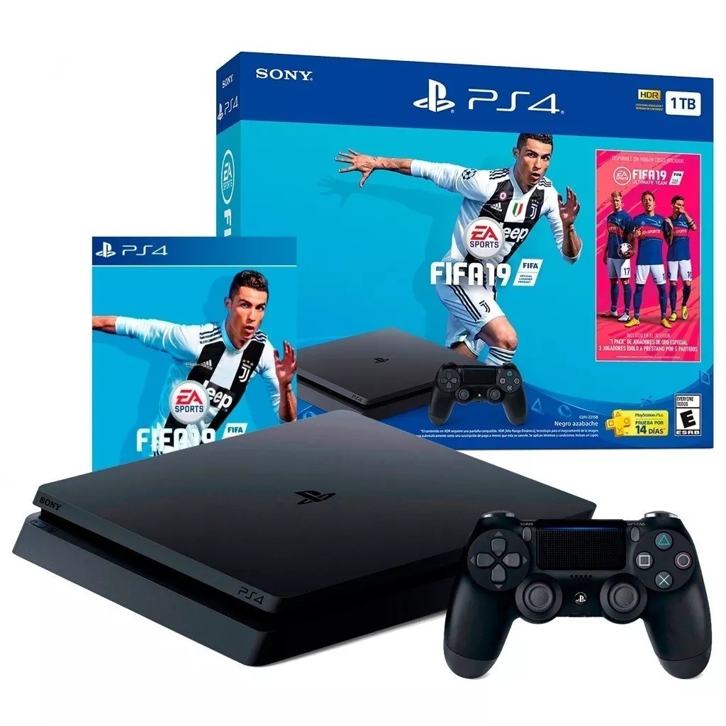 Console Playstation 4 1tb Bundle + Game Fifa 19