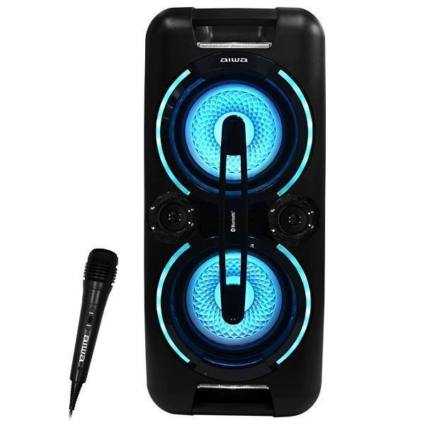 Caixa de Som Karaoke Aiwa AW-POK3 USB / Bluetooth / Aux