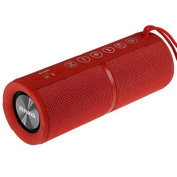 Speaker Aiwa AW-Q400R com Bluetooth/Mini Jack 3.5mm Bateria 2.200 mAh - Vermelho