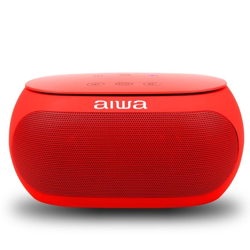 Speaker Aiwa AW31 com Bluetooth/Auxiliar Bateria de 2.500 mAh - vermelho