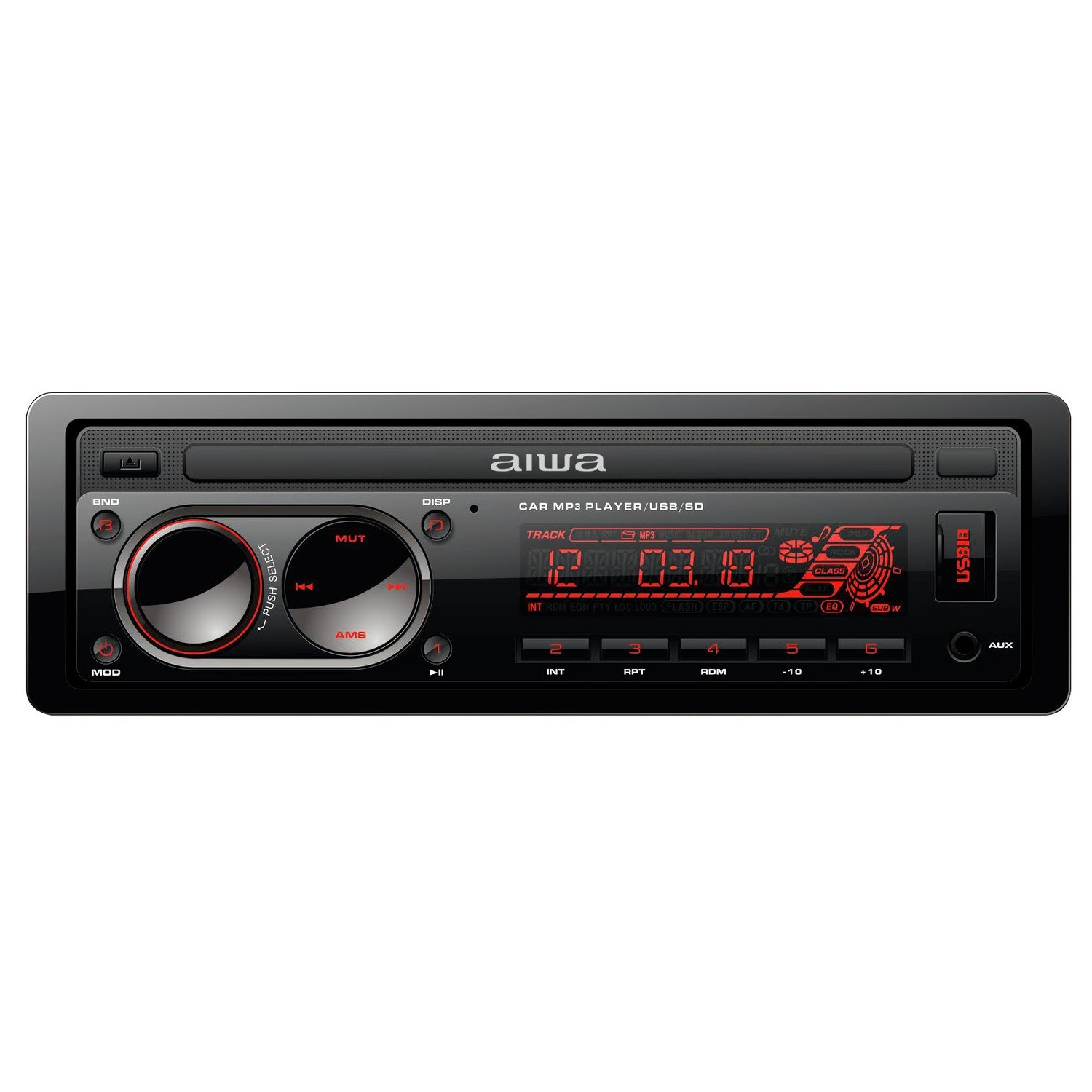 Toca CD Aiwa AW-3298BT Bluetooth USB/AUX/MP3/SD/Rádio AM - FM Preto
