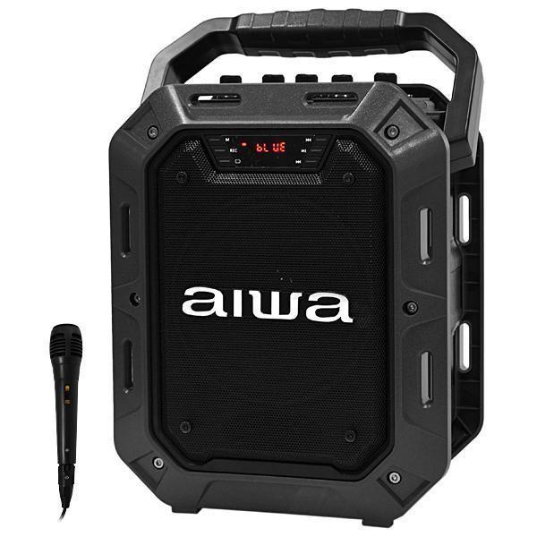 "Caixa Karaokê Aiwa AW HD200BT 5.25"" 10 watts RMS com Bluetooth/USB/FM + Microfone - Preta"