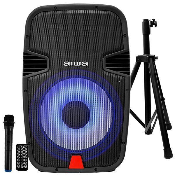 Caixa de som Aiwa AWSP15M 10000 watts PMPO Bluetooth/USB/FM + Tripé