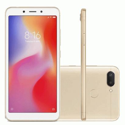 Smartphone Xiaomi Redmi 6 32GB 3Ram  Versão Global Desbloqueado Dourado