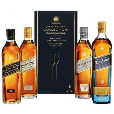 Whisky Johnnie Walker Collection (4 Garrafas de 200mL)