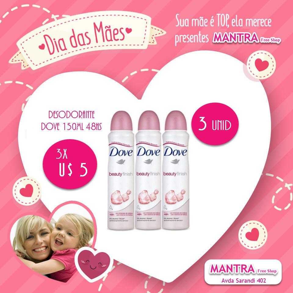 Desodorante Dove 150ml 48hs  3 unidades
