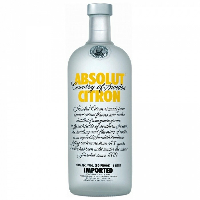 Vodka Citron Absolut 1L