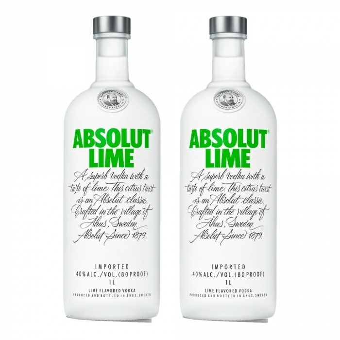 Pack Absolut Lime 40% 2 X 1L