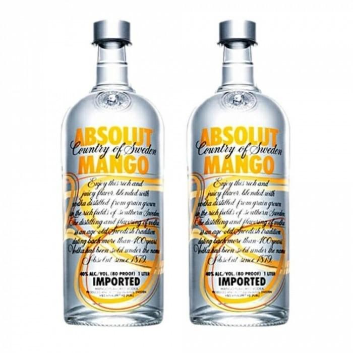 Pack Vodka Absolut Mango 40% 2 X 1L