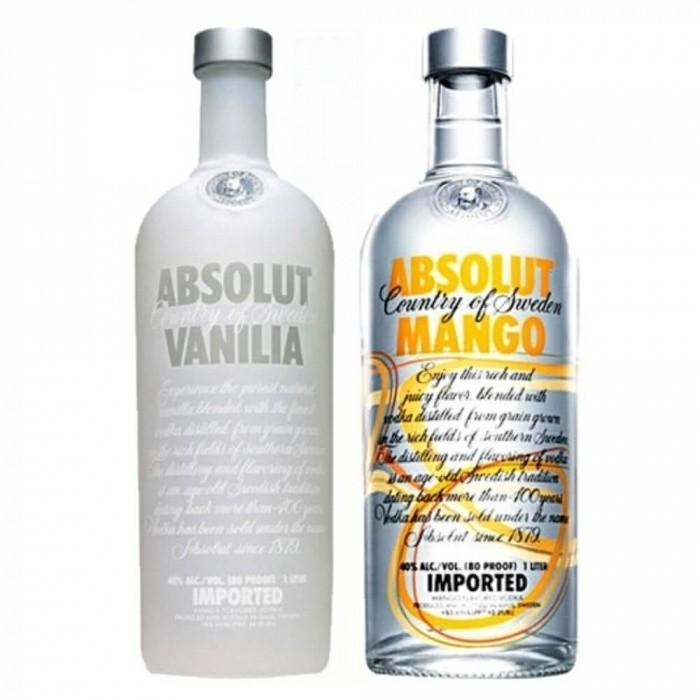 Pack Vodka Absolut Vanilia 40% 1L + Vodka Absolut Mango 40% 1L