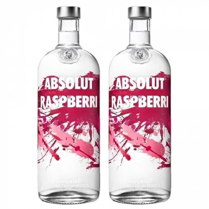 Pack Vodka Absolut Raspberri 40% 2X1L