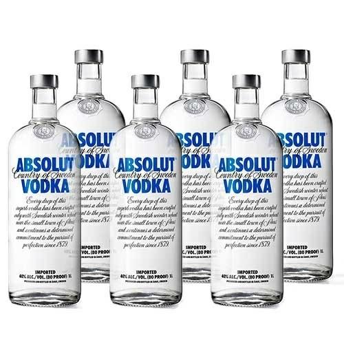 Pack Vodka Blue Absolut 6 x 1L