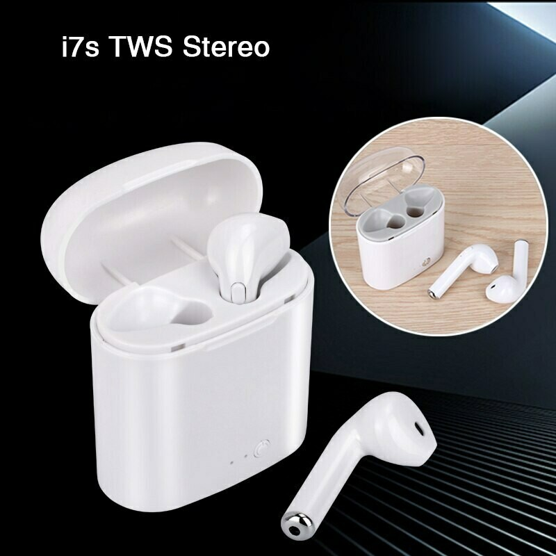 Fone De Ouvido Sem Fio I7s Tws Wireless Com Base Carregadora