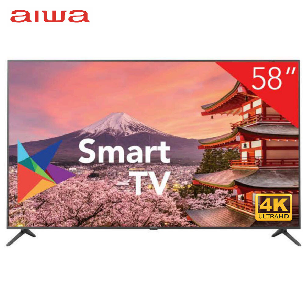"Smart TV LED 58"" Aiwa AW58B4K 4K HDMI/USB/Porta Ethernet com Conversor Digital"