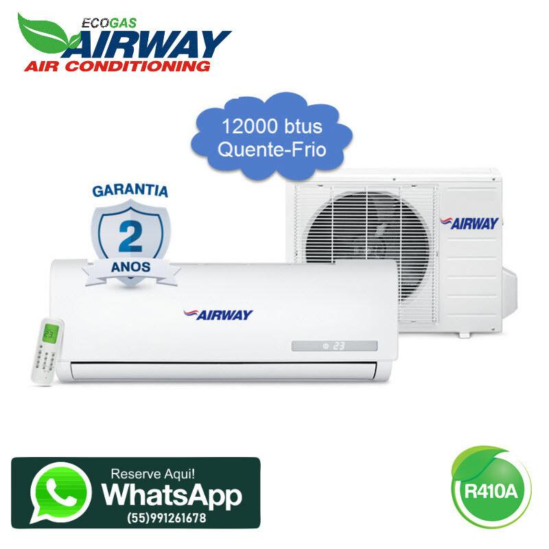 Ar Condicionado Airway 12000 btus quente e frio 220V/60hz com kit de cobre