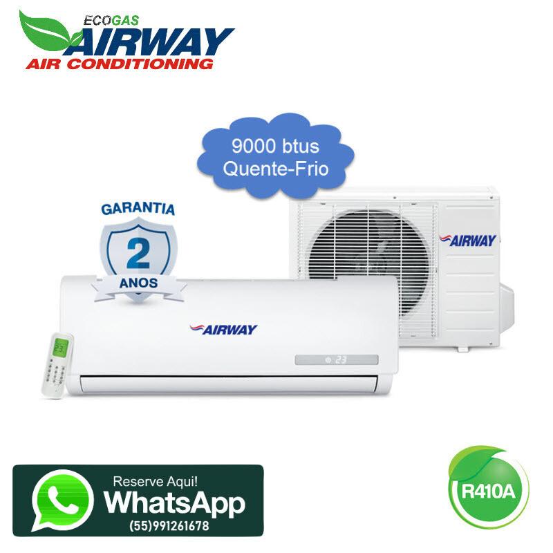 Ar Condicionado Airway 9000 btus quente e frio 220V/60hz com kit de cobre