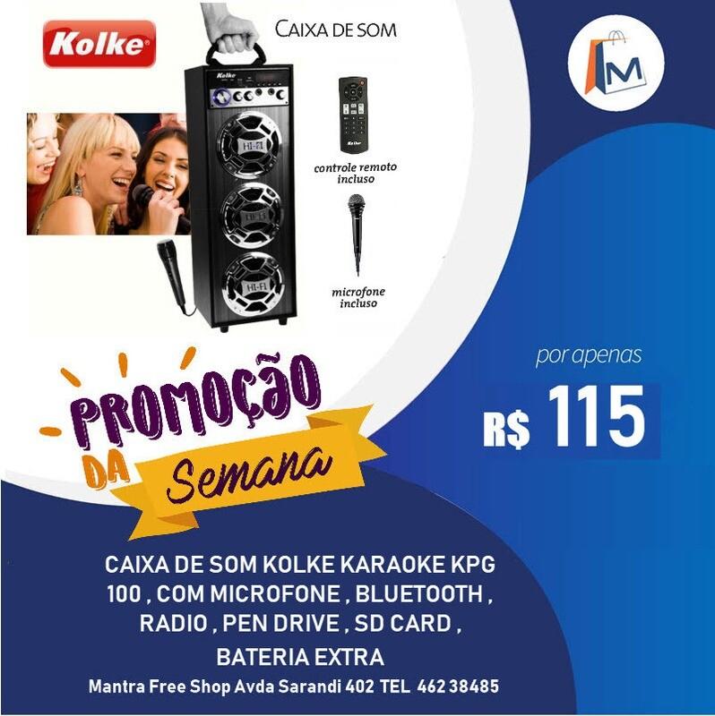 Caixa de som portatil Kolke KPG 100 com microfone