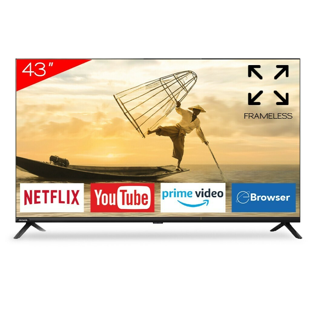 "Smart Tv Aiwa 43"" Frameless com Netflix e Youtube"