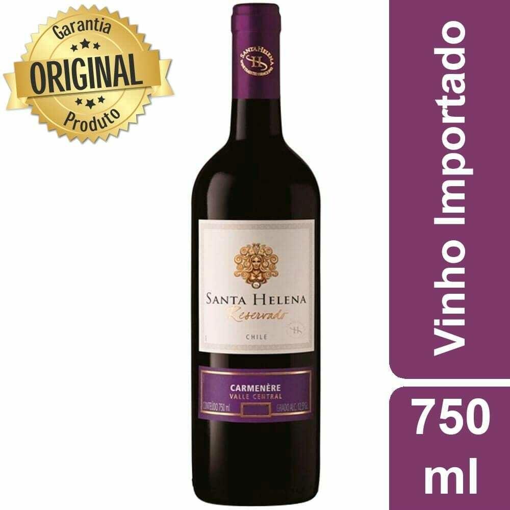 Vinho Tinto Chileno Carmenere Santa Helena Reservado 750 ml