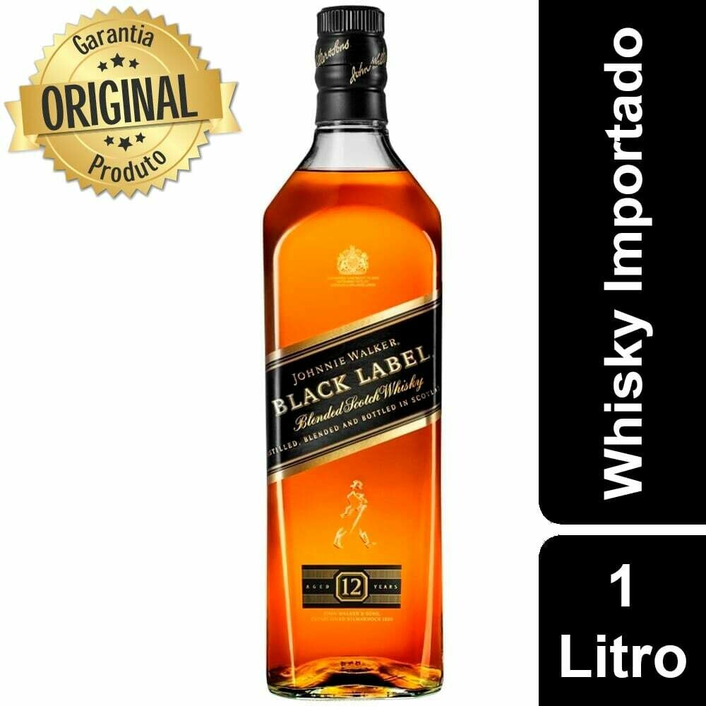Whisky Johnnie Walker Black Label 12 Anos 1Litro