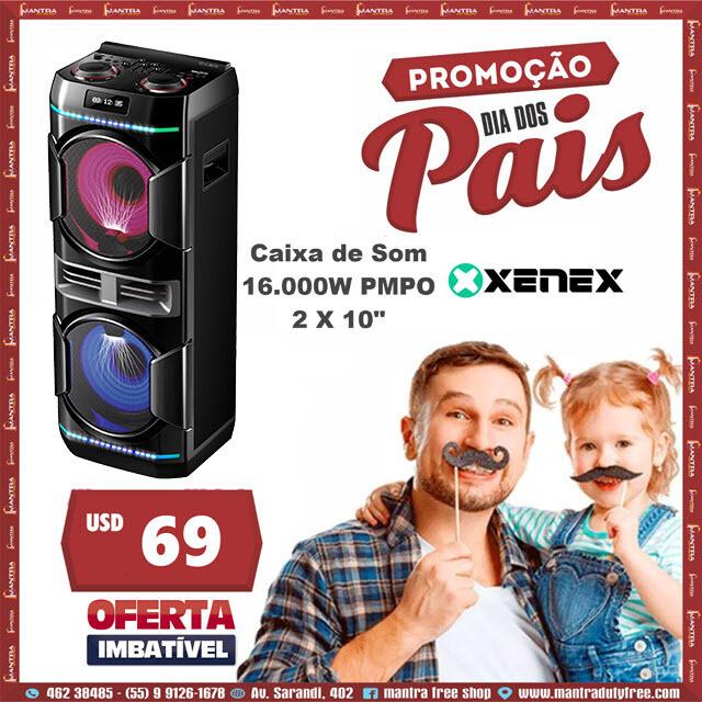 """Promo Dia dos Pais caixa de som Xenex 16.000W 2X10"""""""