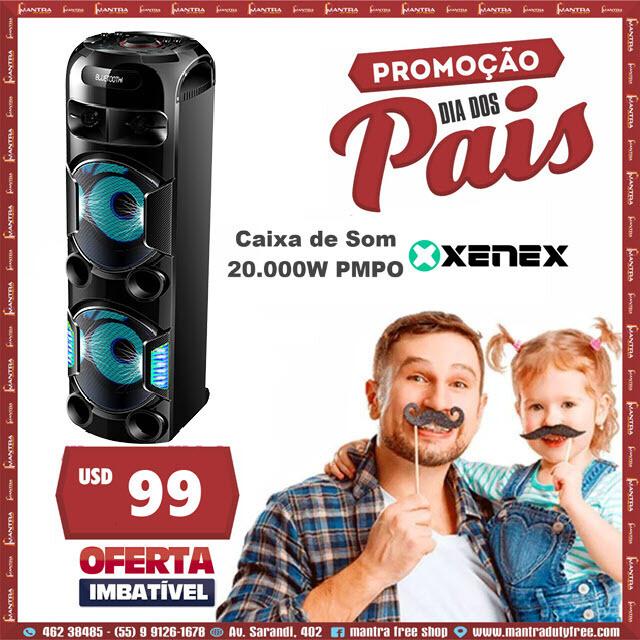 Promo Dia dos Pais caixa de som Xenex 20.000W  2X12