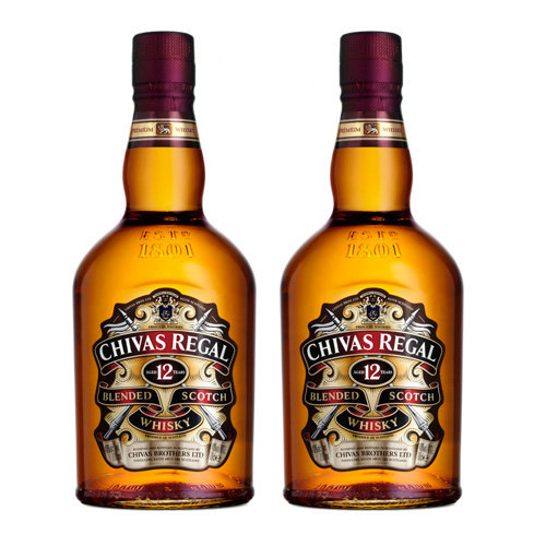 Pack Whisky 12 Anos Chivas Regal 2X1L