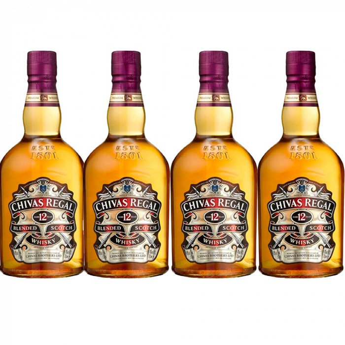 Whisky 12 Anos Chivas Regal 4X1L