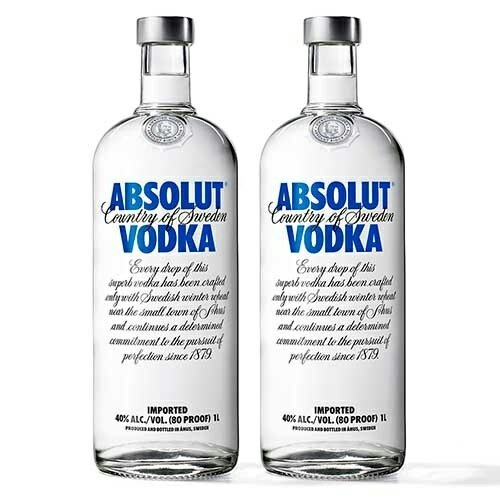 Vodka Blue Absolut 2X1L