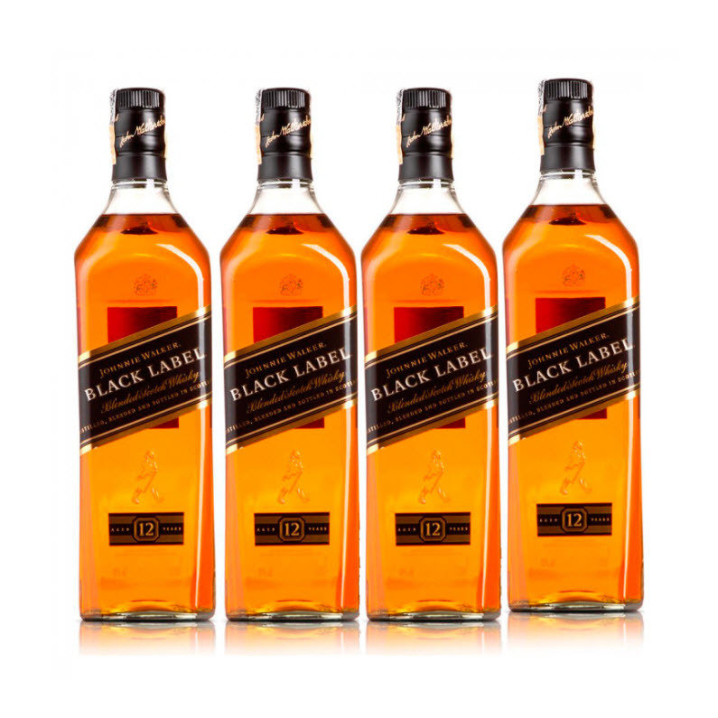 Whisky Johnnie Walker Black x 4
