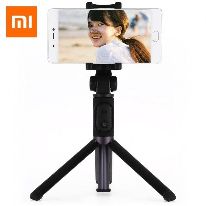 Bastão de selfie Xiaomi com trípode - Preto