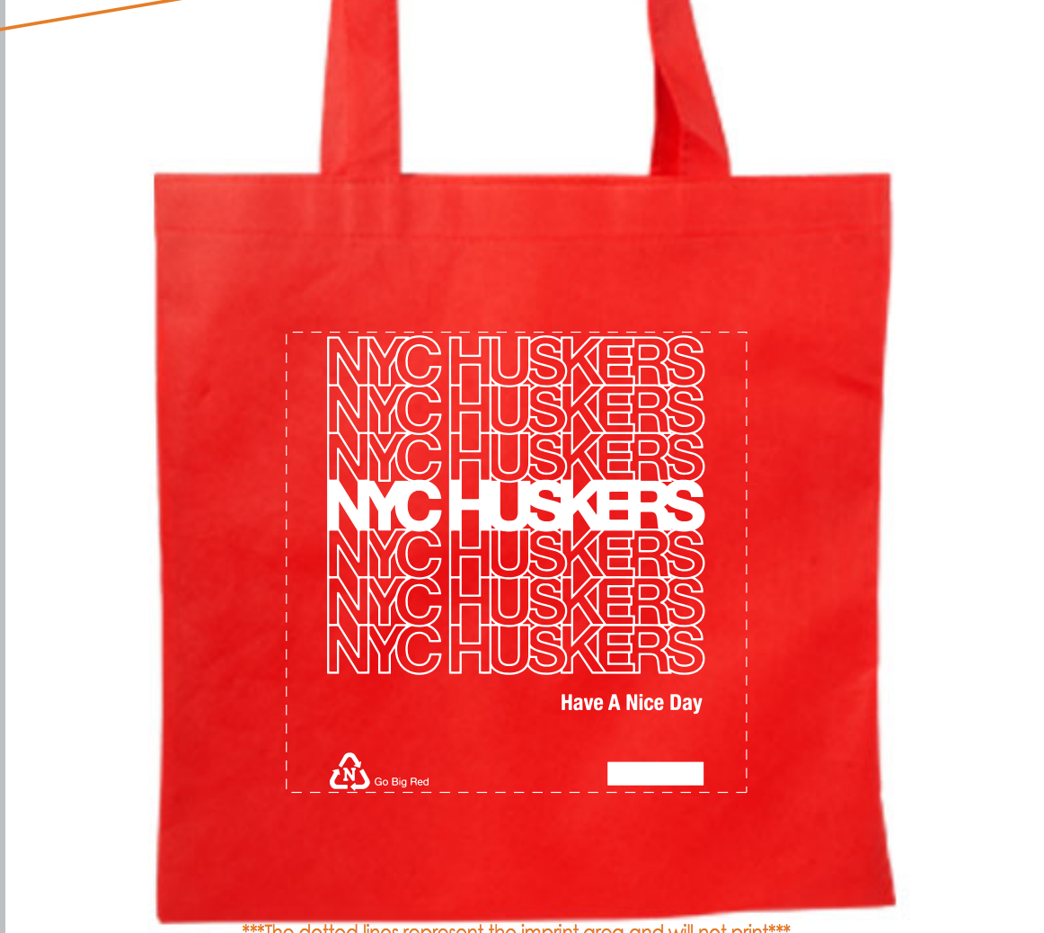 NYC Huskers Tote Bag