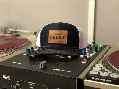 Crown Entertainment Leather Patch Hat