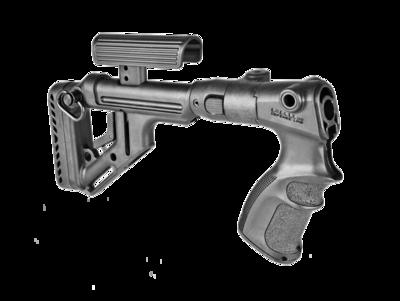 Tactical Folding Buttstock w/ Cheek Piece for Remington 870/Mossberg 500