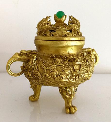 ** £48 after discount ** Elaborate Brass Incense Burner Click for more details
