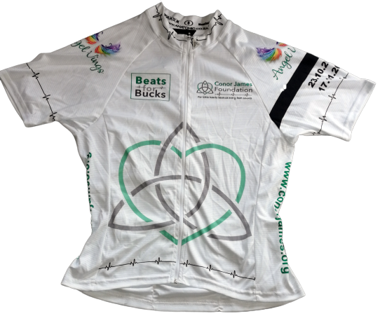 Conor James Foundation cycling jersey