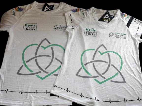 Conor James Foundation running shirt