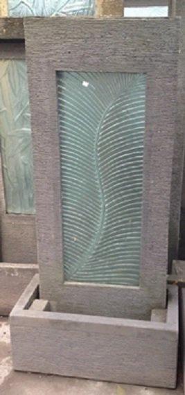 Silver Fern Glass & Concrete Water Feature