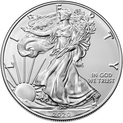 Ameriški orel - srebrni 1 unča