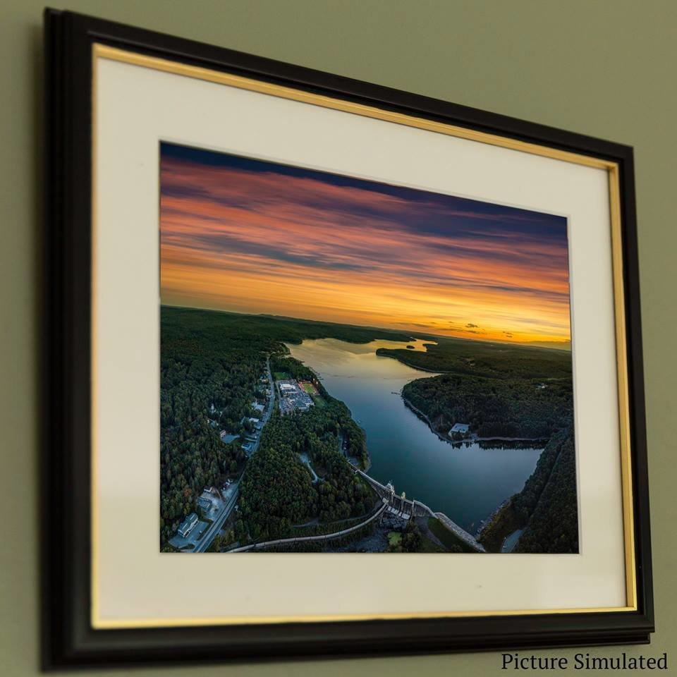13x19 Framed Lake Wallenpaupack Photo