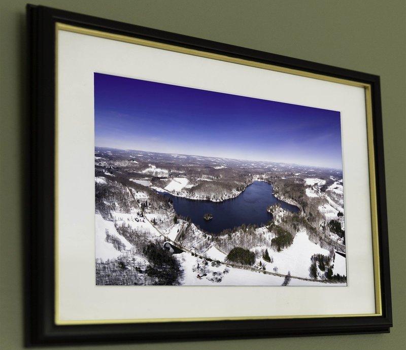 10x19 Lake Ariel, Winter One Size