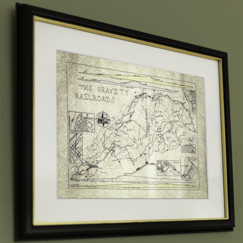 12x16 Gravity Railroad Map