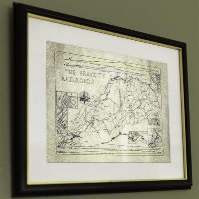 12x16 Gravity Railroad Map, FRAMED