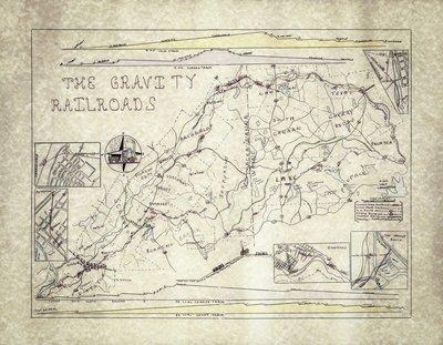 12x16 Gravity Railroad Map, PRINT ONLY