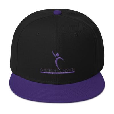 Cheyenne Martin Foundation Black & Purple Embroidered Hat