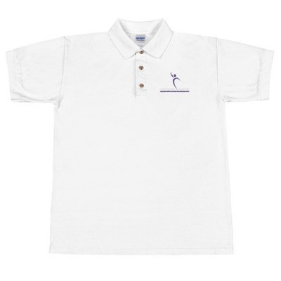 Cheyenne Martin Foundation White Embroidered Polo