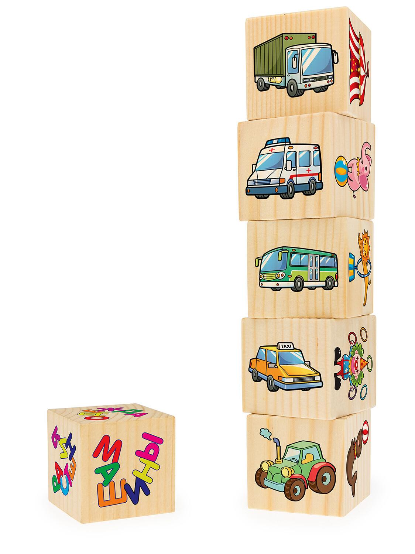 Ассоциации на кубиках №4 (машины, растения, одежда, спорт, цирк, птицы, 6 куб-в)