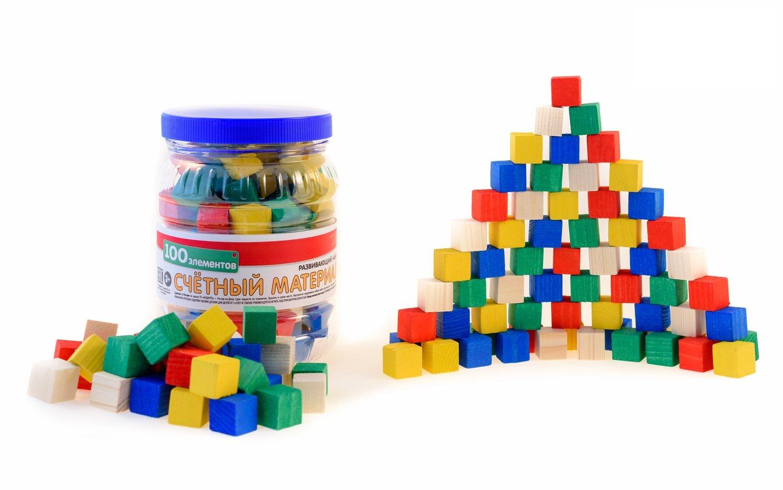 Счетный материал 100 (кубики 100 штук)