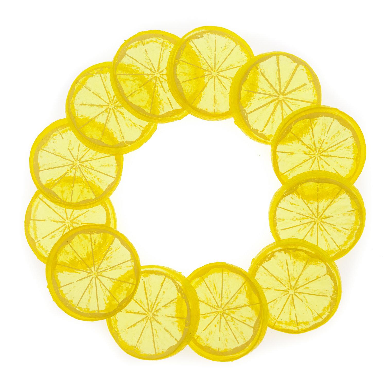 Счетный материал. Слайсы лимона. (12 эл.)
